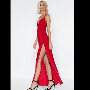 Nasty gal on a high maxi dress EUC